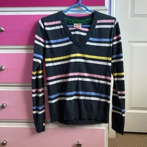 4/25 Vintage superdry v-neck striped sweater